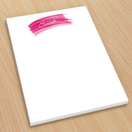 Hot Pink Watercolor Small Note Pads