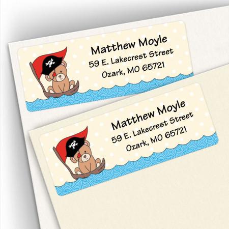 Huggable Pirate Bear Address Labels