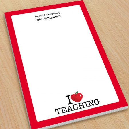 I Heart Teaching Large Note Pads