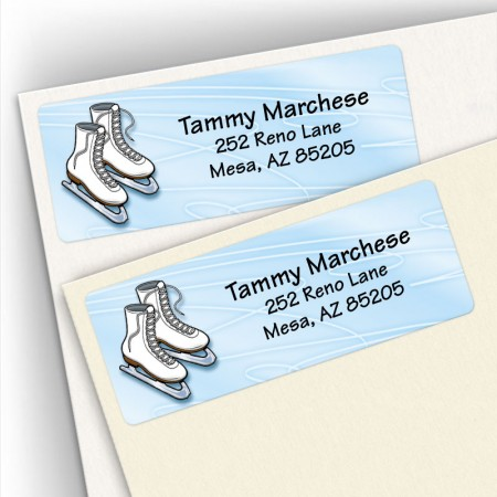 Ice Skating Address Labels