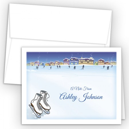 Ice Skating Note Card