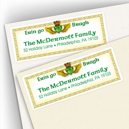 Irish Claddagh Address Labels