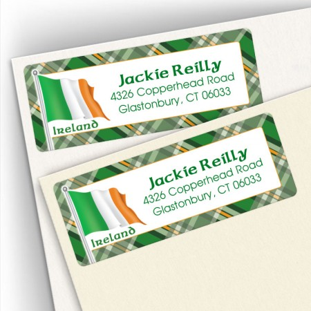 Irish Flag Address Labels 2