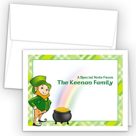 Irish Leprechaun Note Card