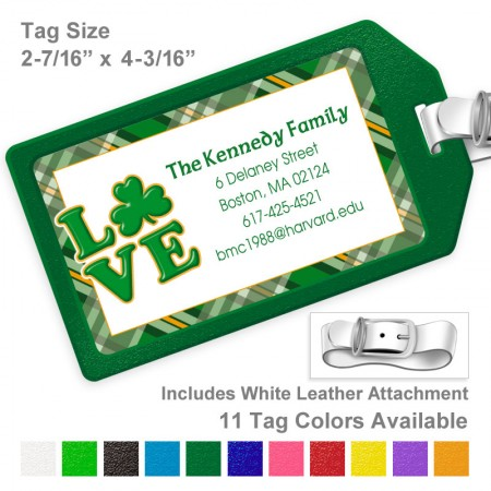 Irish Love Luggage Tag