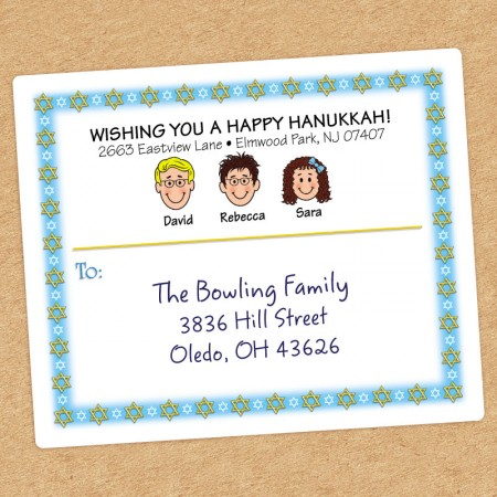 Jewish Stars Family Shipping Label