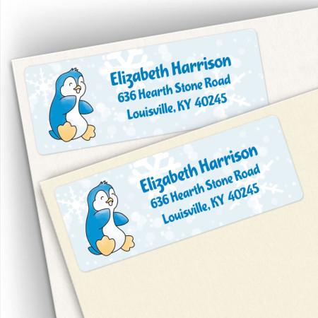 Jolly Penguin Address Labels