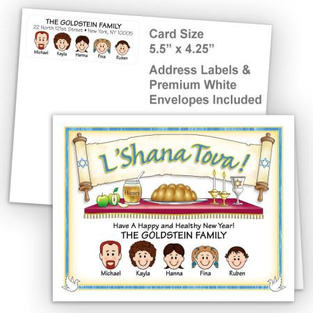L'Shana Tova Rosh Hashanah Fold Note Set