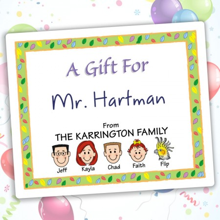 Leaves Family Gift Labels