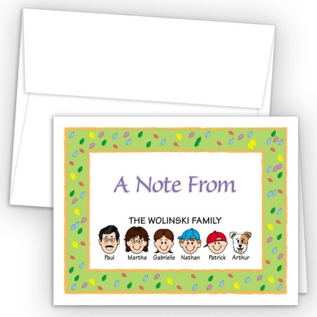 Leaves Foldover Family Note Cards