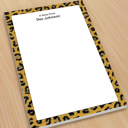 Leopard Pattern Large Note Pads