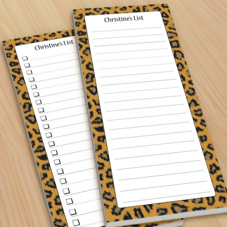 Leopard Pattern To-Do Pads