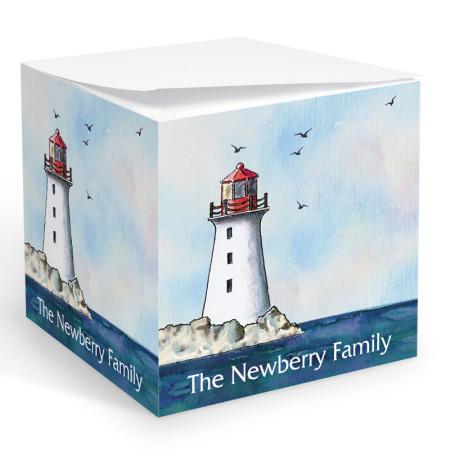Lighthouse Memo Cube