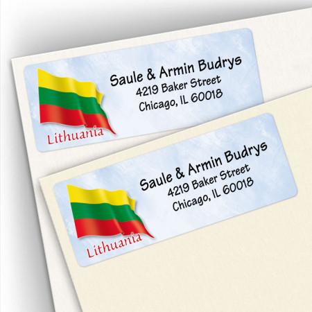 Lithuanian Flag Address Labels
