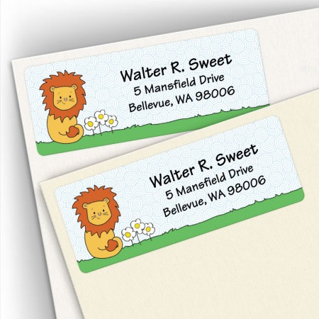 Lovable Lion Address Labels