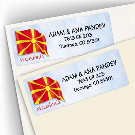 Macedonian Flag Address Labels