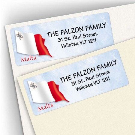 Maltese Flag Address Labels
