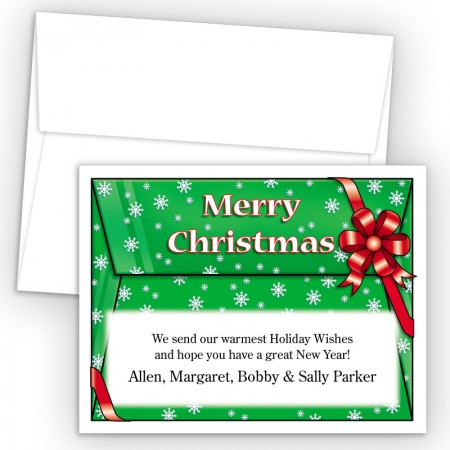 Merry Christmas Envelope Holiday Cards