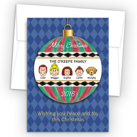 Merry Christmas Ornament Style H Christmas Cards