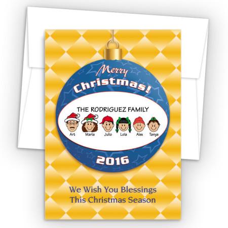 Merry Christmas Ornament Style J Christmas Cards