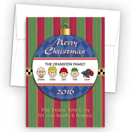 Merry Christmas Ornament Style L Christmas Cards
