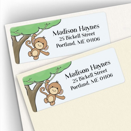 Monkeying Around Address Labels