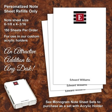 Monogram 5 Note Sheet Refill