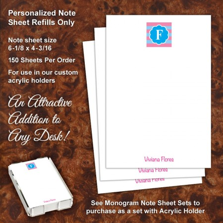Monogram 6 Note Sheet Refill