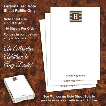 Monogram 8 Note Sheet Refill