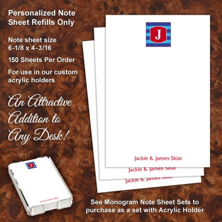 Monogram 10 Note Sheet Refill