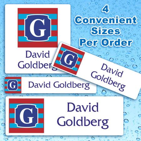 Monogram 11 Waterproof Name Labels For Kids