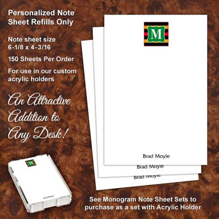 Monogram 12 Note Sheet Refill