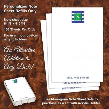 Monogram 16 Note Sheet Refill