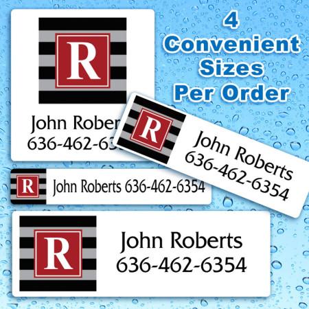 Monogram 5 Waterproof Name Labels For Kids