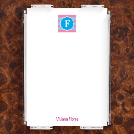 Monogram 6 Note Sheet Set