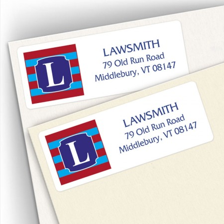 Monogram Address Label 11