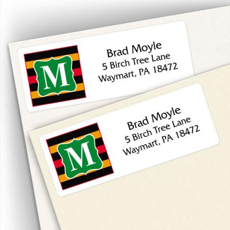 Monogram Address Label 12