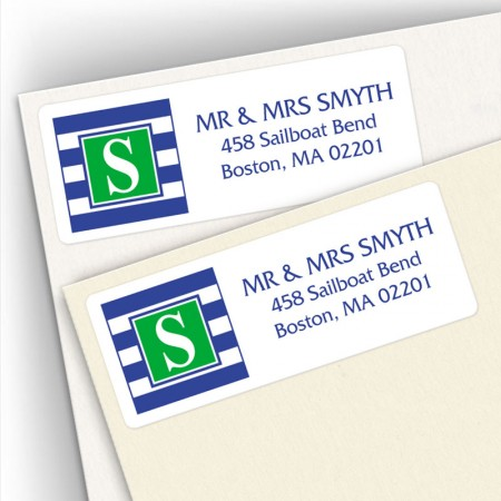 Monogram Address Label 16