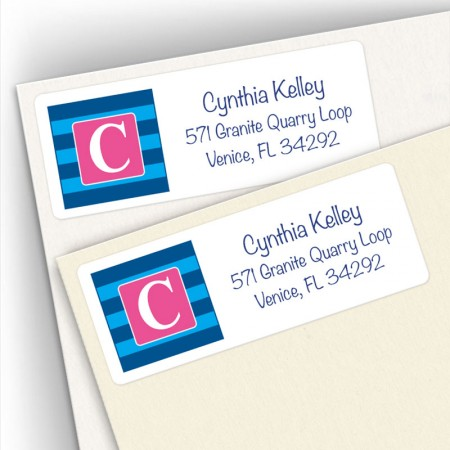 Monogram Address Label 2