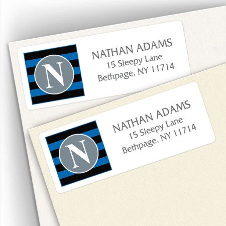 Monogram Address Label 3