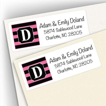 Monogram Address Label 4