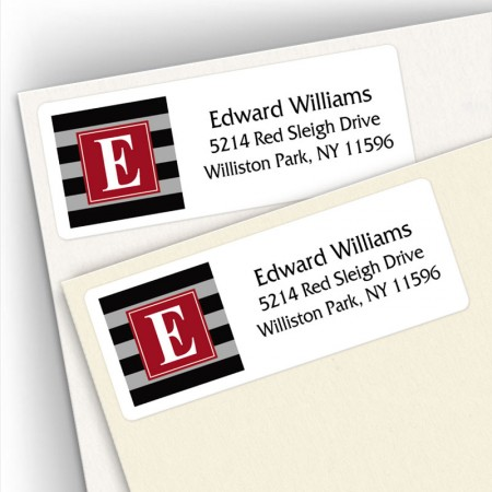 Monogram Address Label 5
