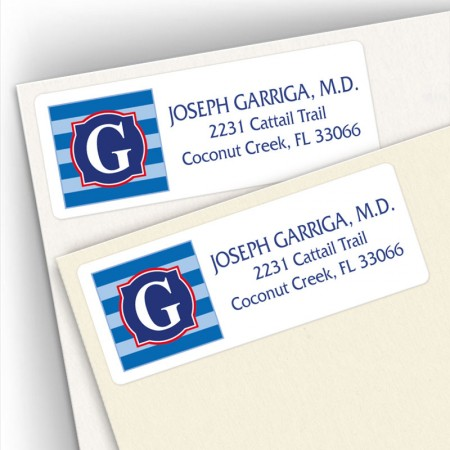 Monogram Address Label 7