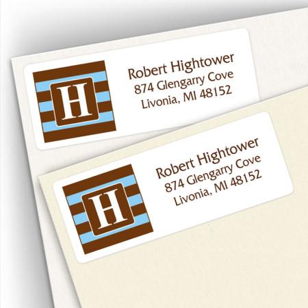 Monogram Address Label 8