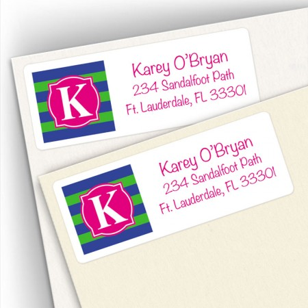 Monogram Address Label 9