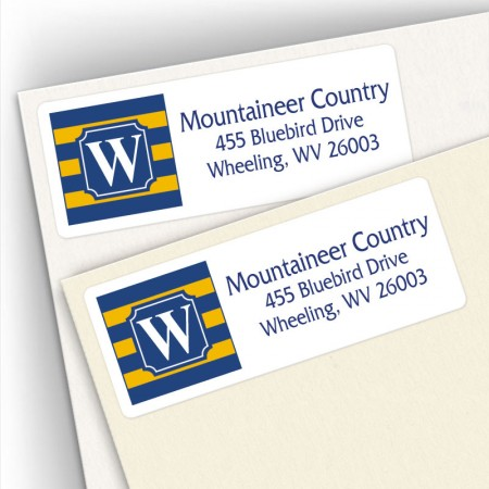 Monogram Address Label School Colors 18