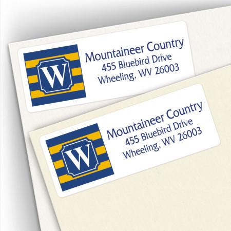 Monogram Address Label School Colors 18