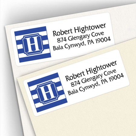 Monogram Address Label School Colors 8