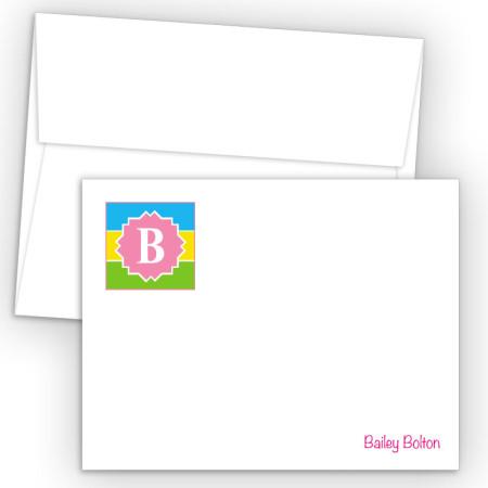 Monogram Flat Note Card 1