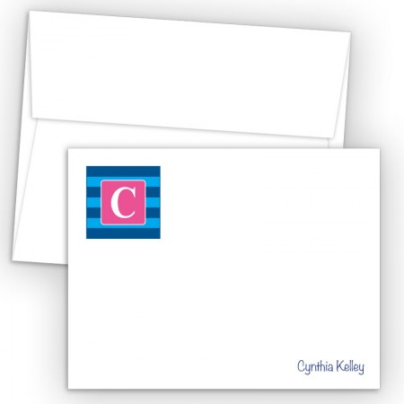 Monogram Flat Note Card 2